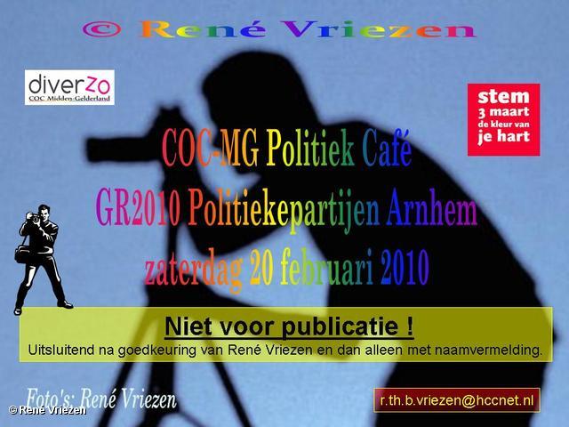 René Vriezen 2010-02-20 #0000 COC-MG Politiek Café GR2010 zaterdag 20 februari 2010