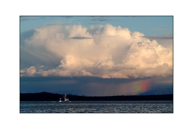 boat and rainbow Landscapes