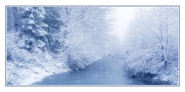snowy blues Landscapes