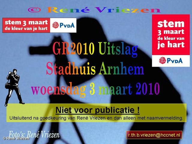 René Vriezen 2010-03-03 #0000 GR2010 Uitslag Stadhuis Arnhem woensdag 3 maart 2010