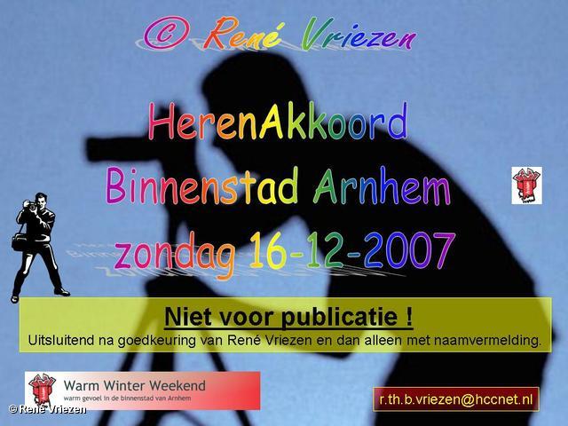 ©René Vriezen 2007-12-16 #0000 HerenAkkoord Warme Winter Weken Binnenstad Arnhem zondag 16-12-2007