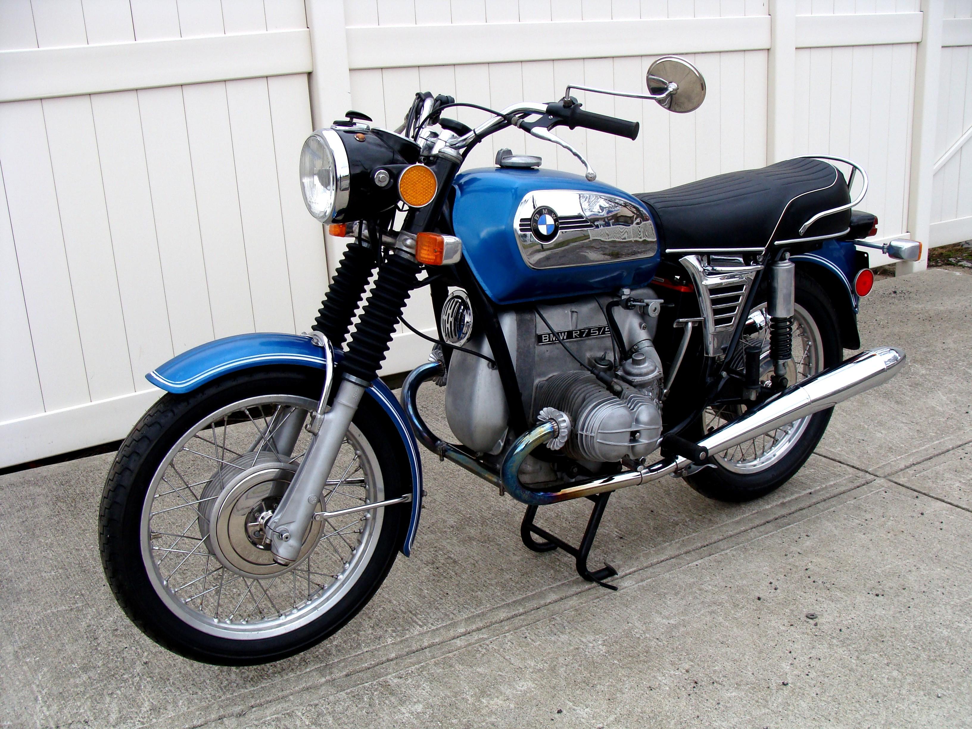 sold 1972 bmw r75 5 blue toaster 44 186 miles photo. Black Bedroom Furniture Sets. Home Design Ideas