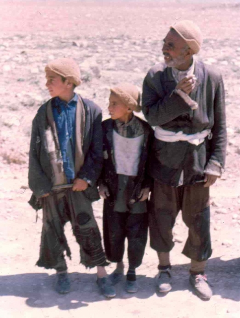kurds, father and sons Afghanstan 1971, on the road