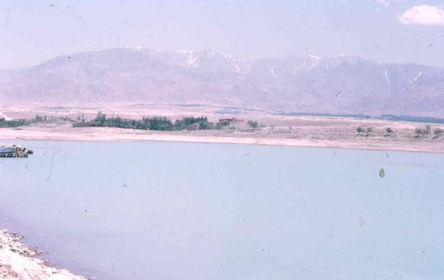 lake near kabul Afghanstan 1971, on the road