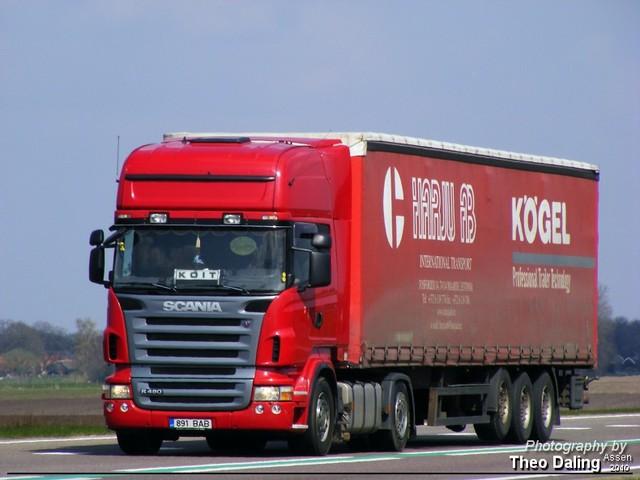Scania Rood (buitenland)  891 BAB-border Buitenlandse truck's  2009