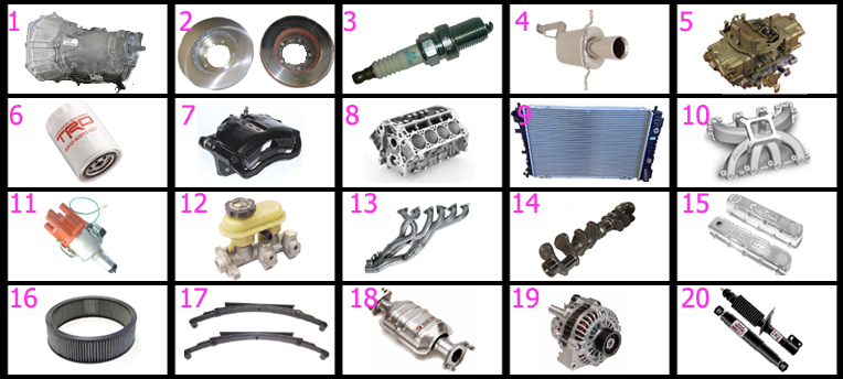 Grease Monkey {Car Parts} (images) Quiz - By jjb