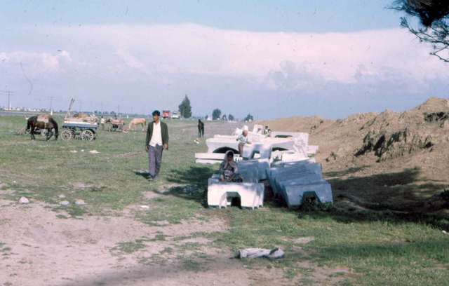 A on our way to koerdistan Afghanstan 1971, on the road
