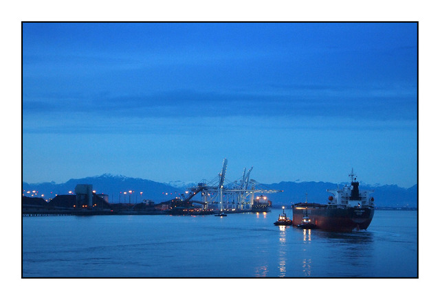 Port in Twilight British Columbia Canada