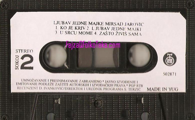 Mirsad Jarovic 1990 album Ljubav jedne majke