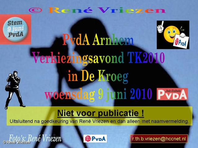 René Vriezen 2010-06-09 #0000 PvdA Verkiezingsavond TK2010 in De Kroeg Arnhem woensdag 9 juni 2010