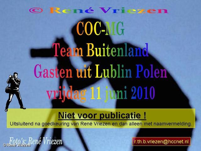 René Vriezen 2010-06-11 #0000 COC-MG Team Buitenland Gasten uit Lublin Polen vrijdag 11 juni 2010
