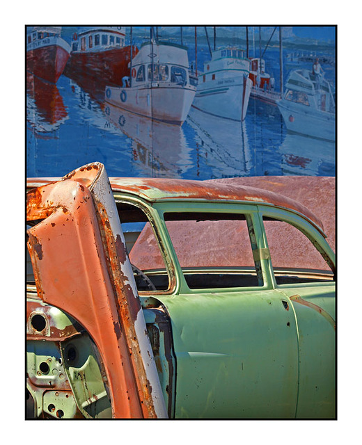 Wreck and Mural Automobile