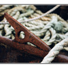 rusty tie down - 35mm photos