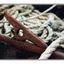 rusty tie down - 35mm photos