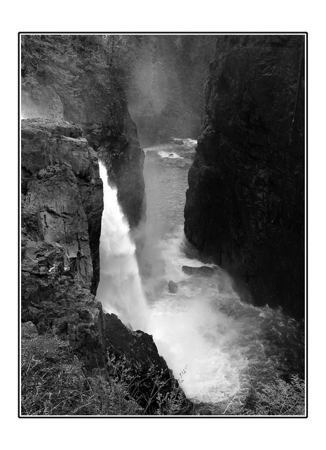 elk falls B&W Black & White and Sepia