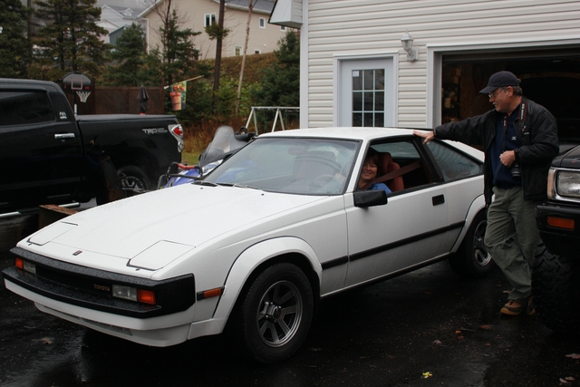 elaine 1st ride 83 Supra resto project