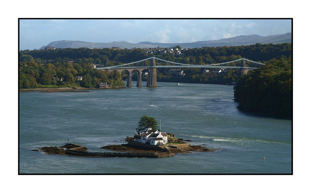 Menai Suspension Bridge England and Wales