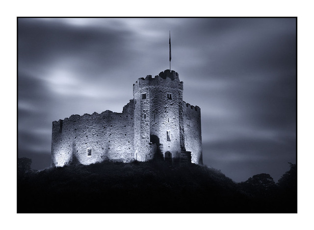 Cardiff Castle Night England and Wales