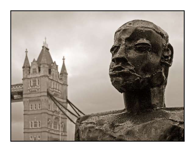 Statue Tower Bridge England and Wales