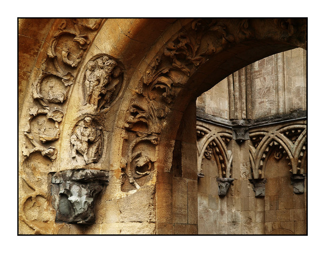 Glastonbury Carvings England and Wales