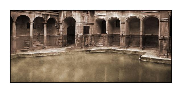 Roman Bath Sepia England and Wales