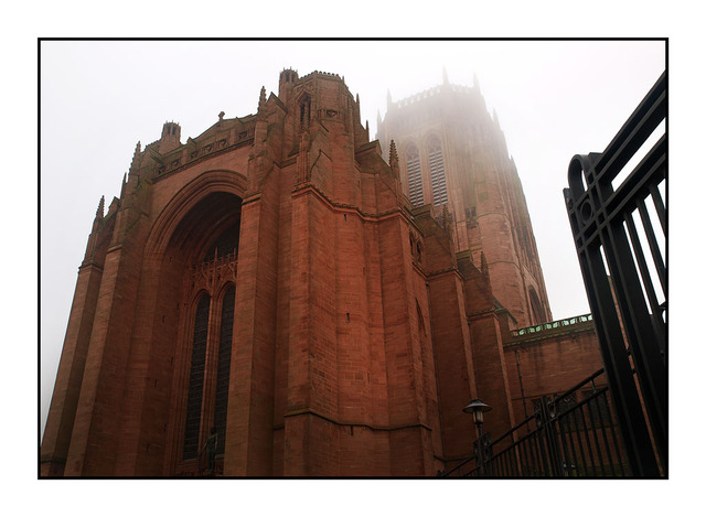 Liverpool Cathedral  in Mist England and Wales