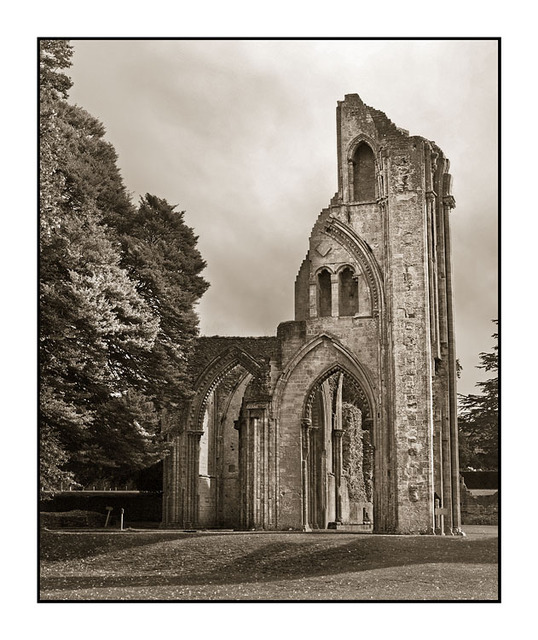 Glastonbury Ruin Sepia England and Wales