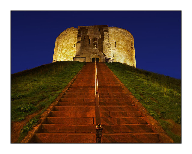 Cliffords Tower at Night England and Wales