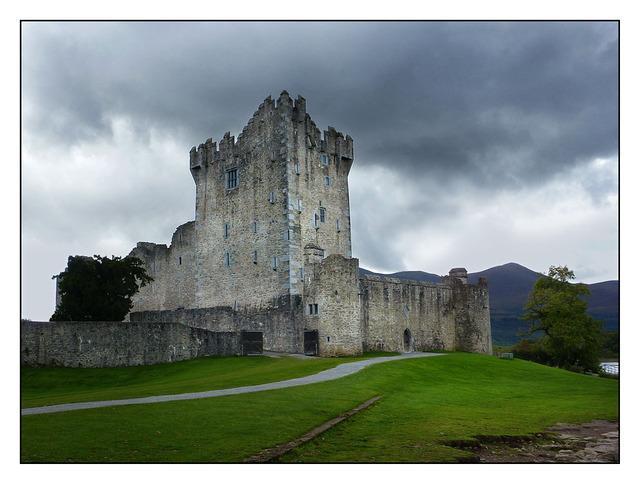 Ross Castle in the Rain Ireland