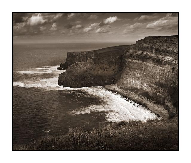 Cliffs of Moher Sepia Ireland