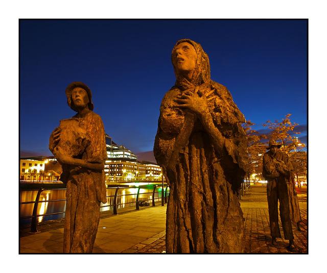 Dublin Famine Statues Ireland