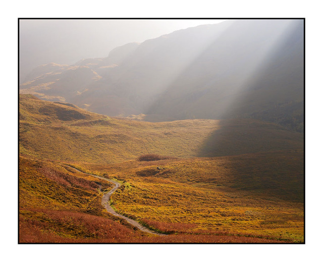Glencoe in the light Scotland