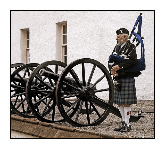 Blair Castle Piper Scotland