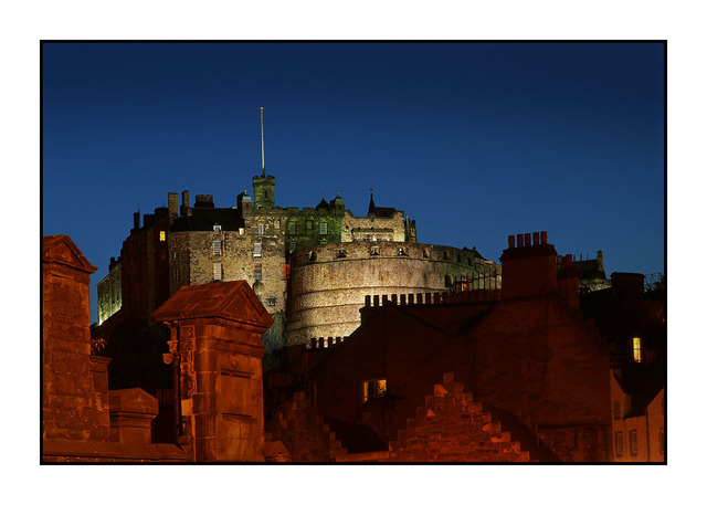 Edinburgh Castle at Night Scotland