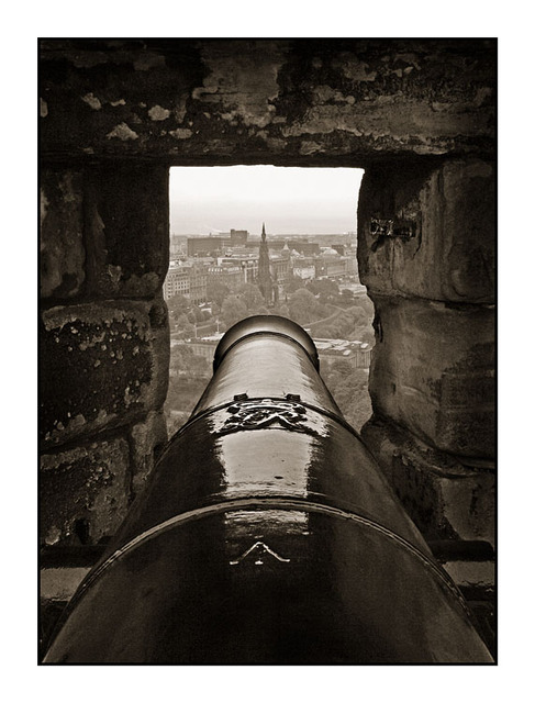 Edinburgh Castle Cannon Scotland