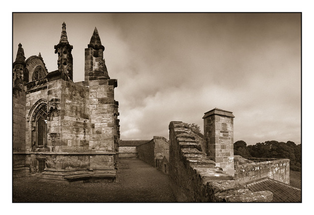 Rosslyn Panorama Sepia Scotland