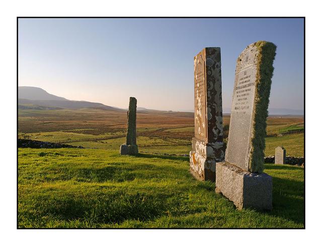 Skye Cemetery Sepia Scotland