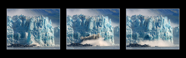 Hubbard Ice Calving Panorama Images