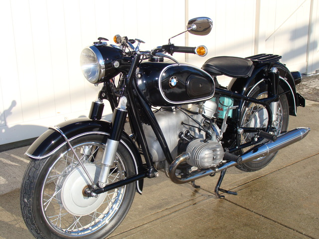 641284 '66 R50-2 Black 001 SOLD.......1966 BMW R50/2, 19,257 Miles. Fresh 10K Service.