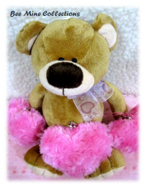 1 Bear w 3 Hearts Bouquet- 190.000 -