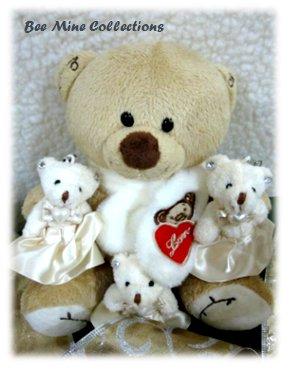 1 Winter Bear w 3 Lil' Fancy Bears Bouquet..-195 -