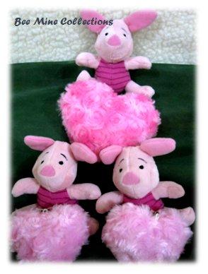 3 Piglet w 3 Heart Bouquet -205.000 -