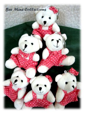 6 Mini Bear in Polka Outfit Bouquet-235.000 -