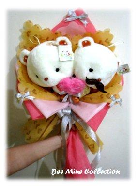 Big Head Bear Couple -