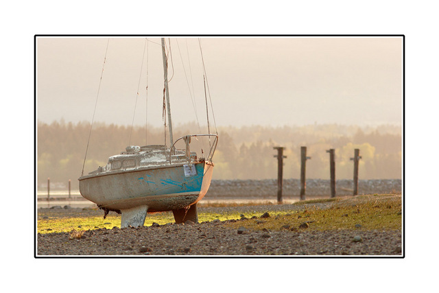 Boat before Sundown Comox Valley