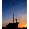boat Sundown - Comox Valley