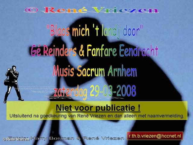 René Vriezen 2008-03-29 #0000 Gé Reinders Eendracht Musis Sacrum za 29-03-2008