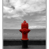 hydrant at the beach - Black & White and Sepia