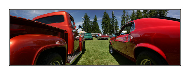 mustang and f100 pano Panorama Images