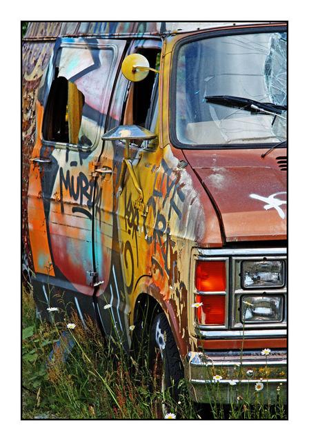 Graffiti Van Abandoned